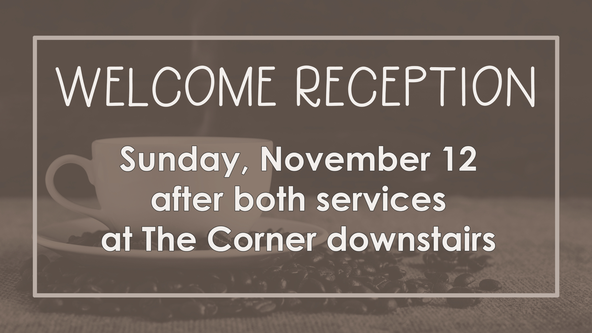 Welcome Reception – 11/12