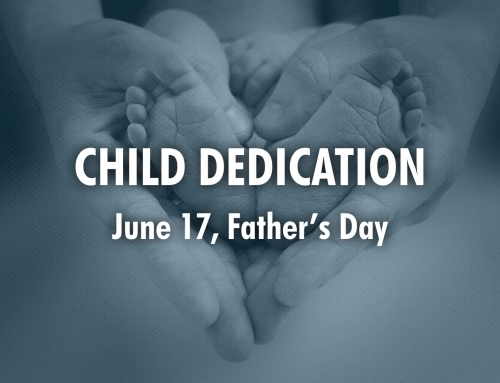 Child Dedication on Father's Day