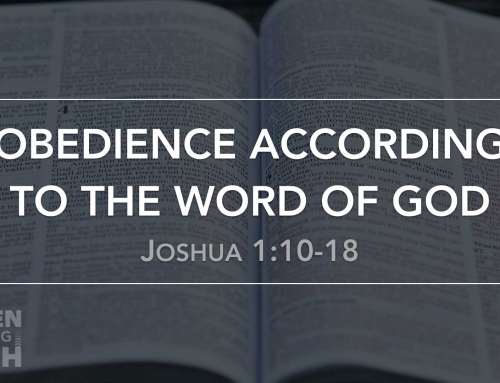 Obedience According to the Word of God – Wheaton