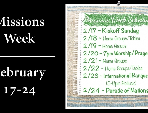 Missions Week – Save the Date!