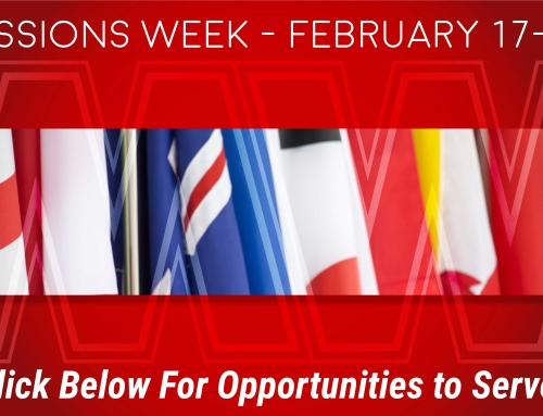 Missions Week – Opportunities To Serve
