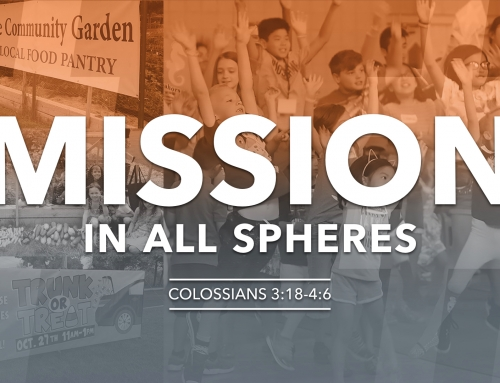 Missions in All Spheres – Colossians 3:18-4:6 study (February 10, 2019)