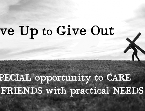Give Up To Give Out