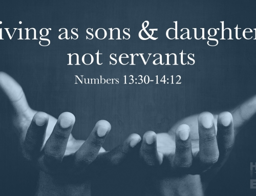 Living As Sons & Daughters, Not Servants – Warrenville