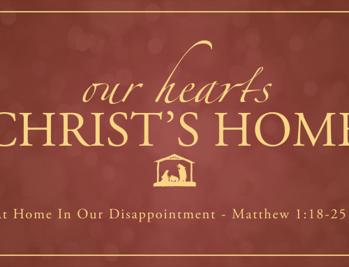 At Home In Our Disappointment – Warrenville